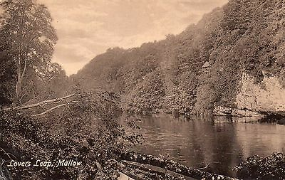 Lovers Leap Mallow Co. Cork Ireland Valentines Vintage Irish Postcard
