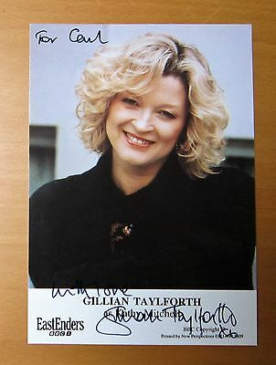 Eastenders Gillian Taylforth Kathy Mitchell Beale Hand Signed Cast Card Free P&p