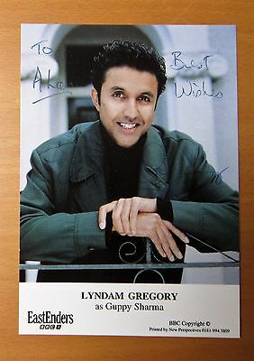 Eastenders Lyndham Gregory Guppy Sharma Hand Signed Cast Card Free P&p