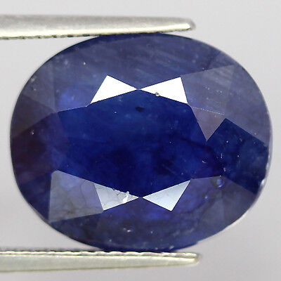 10.98 Ct Natural! Blue Madagascar Sapphire Glass Filled Oval