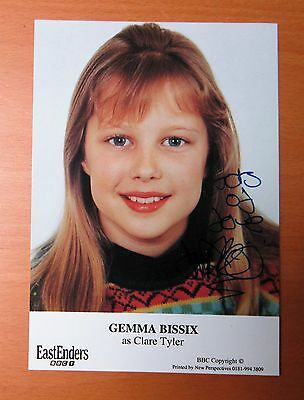 Eastenders Gemma Bissix Clare Tyler Hand Signed Cast Card Free P&p