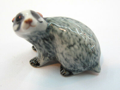 Craft Gift Miniature Collectible Porcelain Ceramic Badger Figurine Animal Zoo