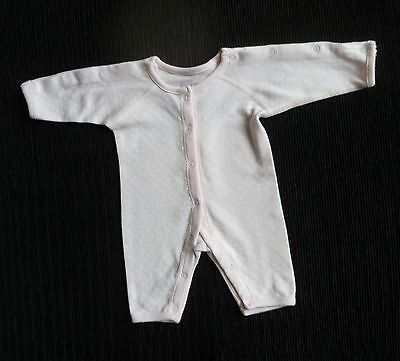 Baby clothes GIRL premature/tiny<5lb/2.3k pink/white hearts arm poppers babygrow