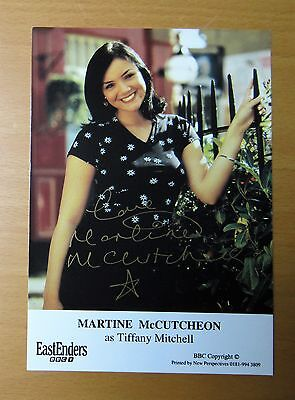 EASTENDERS MARTINE McCUTCHEON TIFFANY MITCHELL HAND SIGNED CAST CARD FREE P&P