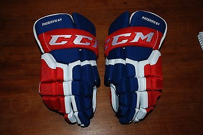 Brand New Pro Stock Ccm Hg55Xp Hockey Gloves Montreal Canadiens Pateryn