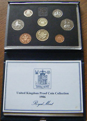 Deluxe 1986 Proof Coin Set With Coa