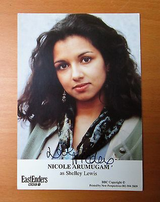 Eastenders Nicole Arumugam Shelley Lewis Hand Signed Cast Card Free P&p