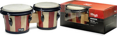 Stagg BW-100-DT 6,5 Zoll + 7,5 Zoll Traditionelles Bongo Set Holzkessel