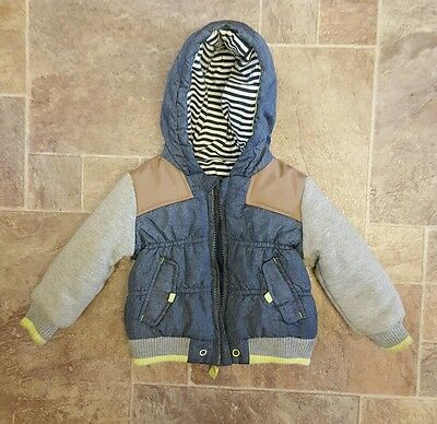 Baby Boys Coat by George Age 9-12 months in Blue Multi