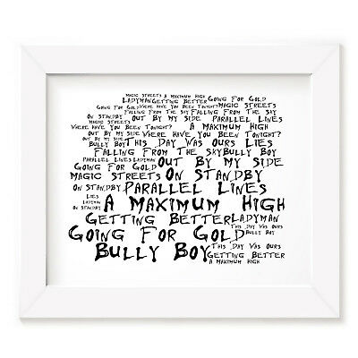 `Noir Paranoiac` SHED SEVEN Art Print Typography Album Song Lyrics Signed Poster