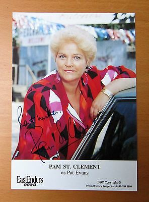 Eastenders Pam St. Clement Pat Evans Butcher Hand Signed Cast Card Free P&p