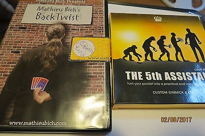 """DVD's Mathieu Bich """"BACK TWIST""""+Blue Crown """"The 5th Assistant"""" by Geoff Weber"""