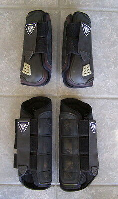 Tri-Zone Front & Hind Cross Country Galloping Eventing Boots, Size Large