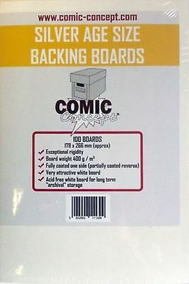 100 x Comic Concept Silver Age Backing Boards - Acid Free Archival Safe