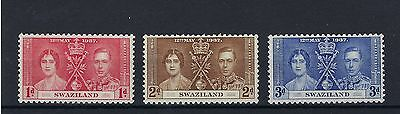 *swaziland 12Th May 1937 Coronation Stamps Mint Hinged. Post Free To The Uk.