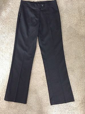 Marks & Spencer Girls Black School Trousers, Age 10-11 Years, Bnwot