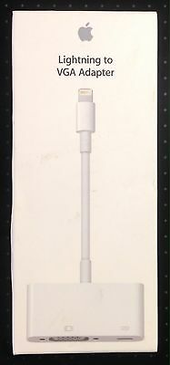 Genuine APPLE Lightning to VGA Adapter MD825ZM/A - White