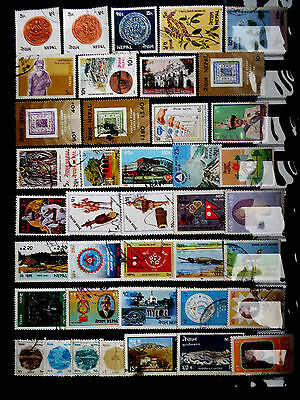 Small used stamps collection of Nepal as scan.