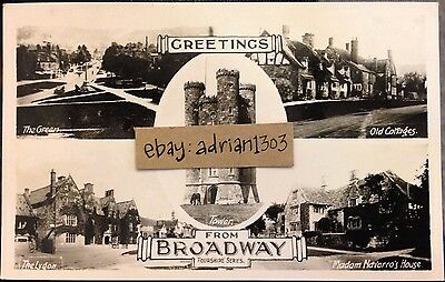 BROADWAY MULTIVIEW RPPC PACKERS STUDIO Fourshire Series Chipping Norton