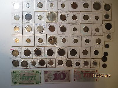 62 piece lot collection U.K. Great  Great Britain coins notes vintage w silver