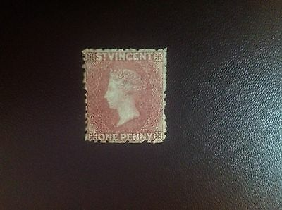 St Vincent 1862-8 1c Rose-Red SG5 MH Cat £42