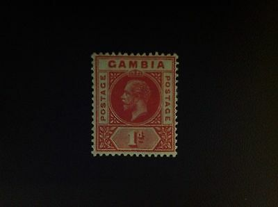 Gambia 1921-22 1d Carmine-Red SG109 MH