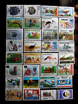 Small used stamps collection of Tanzania as scan.