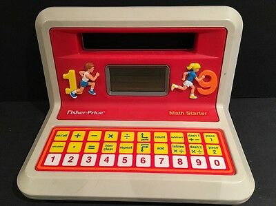 Vintage 1988 FISHER PRICE Math Starter Electronic Learning Game Toy