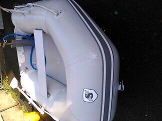 Inflatable dinghy tender.