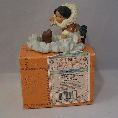 Friends Of The Feather Gift Of Generosity 285307 Enesco 1997 Child Feeding Seal