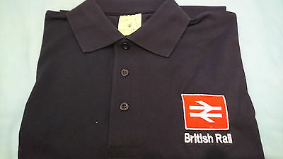 Br British Rail Polo Shirt Embroidered Brand New Red Logo