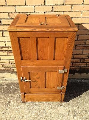 1920's Antique Oak Icebox - REDUCED FOR QUICK SALE!