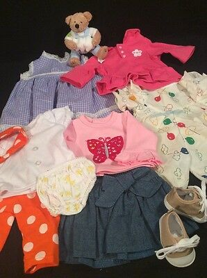 "Lot of Baby Doll Clothes that fit 14-16""  American Girl Bitty Baby or Baby Alive"