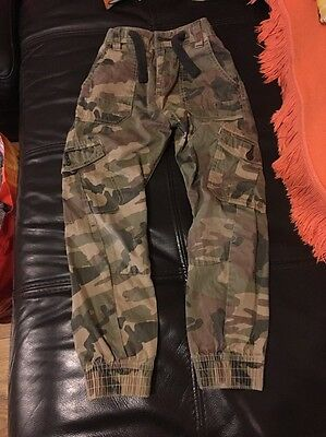 Boys Next Camouflage Cargo Combat Trousers Age 7 Years