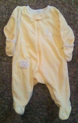 Gymboree Infant Unisex 3/6M Yellow Fleece Pajamas