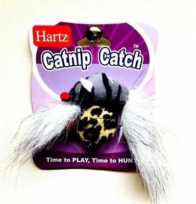 2 x Catnip Cat Kitten Finger Teaser Toy Play N Squeak Wee Catch Of The Day Mouse