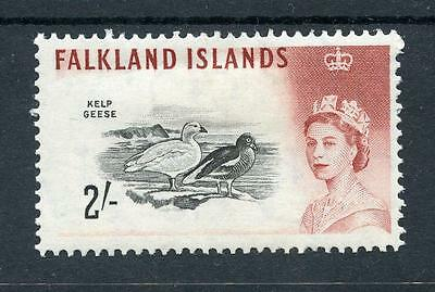 Falkland Islands 1960-66 2s black and lake-brown (D.L.R.) SG204a MM cat £225