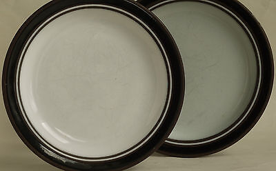 Hornsea Pottery Small Plate X 2 - Contrast Design