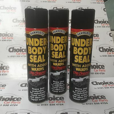 3 x Hammerite Waxoyl Underbody Seal Aerosol 600ml Rust Treatment Spray Treatment