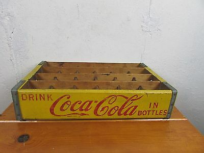 Coca Cola Yellow Carrier Vintage Great Condition Great Graphics