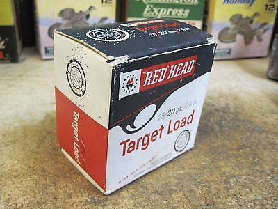 RED HEAD empty 20 GA SHOTGUN TARGET LOAD shot shell  box LONG RANGE AMMO USA