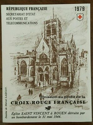 Timbre France neuf ** carnet croix rouge 1979