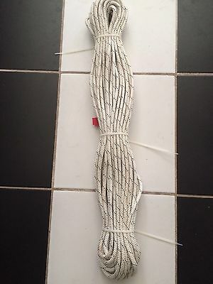 Marlow braid 50 metres x 8mm, white with a black fleck in colour