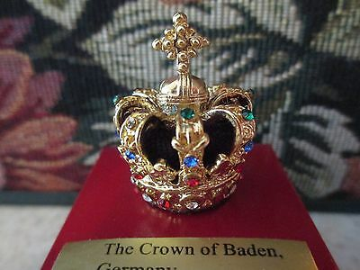 Crown Of Baden, Germany  Miniature  Read How To Get Free Display  ~ #61049