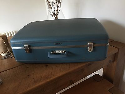 Vintage Suitcase Turquoise Blue Navigator Could Possibly Post