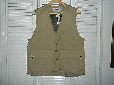 NWT L.L. Bean Safari Hunting Fishing Photography Khaki Vest Jacket Women's Sz M