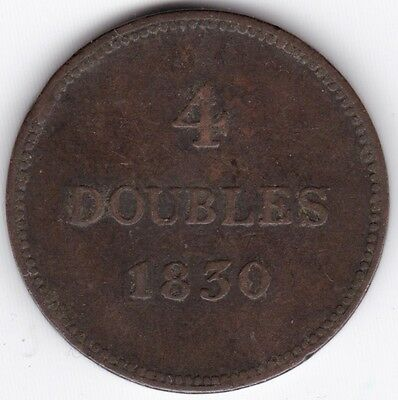 1830 Guernsey 4 Doubles***Collectors***