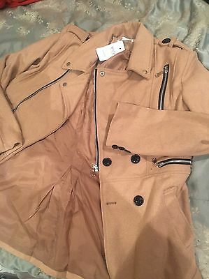 Men's Jacket Trench Coat Outerwear Brown L