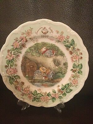 "Rare Beautiful Royal Doulton Brambly Hedge 1997 8"" 1st condition plate"
