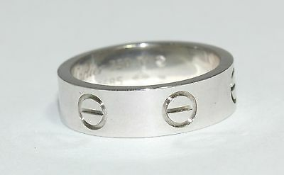 Cartier LOVE band Ring In 18ct White Gold Size L